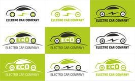 Elektrische Auto Eco Negen Geïsoleerd Pictogrammenontwerp Royalty-vrije Stock Fotografie