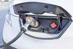 Elektrische auto het laden post in viering Florida Verenigde Staten de V Stock Foto