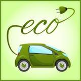 Elektrische auto met ecoontwerp royalty-vrije illustratie