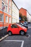 Elektrische auto van het 'Vriend 'merk, Oslo, NOORWEGEN stock afbeeldingen