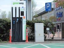 Elektrische autolader, Katowice stock afbeelding