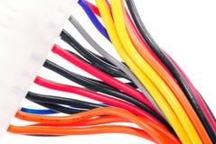 Elektrische bedrading. stock afbeelding