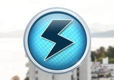 Elektrische Blitzikone in der Stadt Lizenzfreie Stockfotos