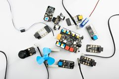 Elektrische Bretter der digitalen Bildung Lizenzfreies Stockbild