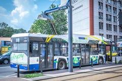 Elektrische bus Solaris Urbino 12 royalty-vrije stock foto's