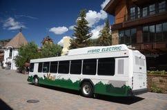 Elektrische bus in Vail, Colorado stock foto
