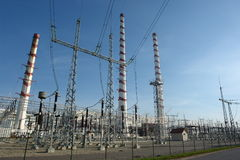 Elektrische centrale royalty-vrije stock fotografie