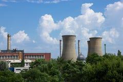 Elektrische centrale in Boekarest Stock Foto