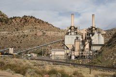 Elektrische centrale in canion twee Royalty-vrije Stock Afbeeldingen