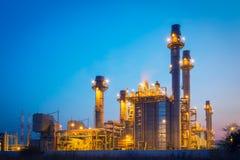 Elektrische centrale in de petrochemische installatie Stock Foto's