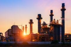 Elektrische centrale in de petrochemische installatie Stock Afbeelding