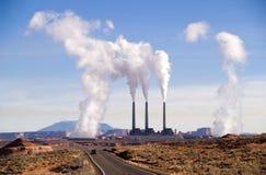 Elektrische centrale dichtbij Pagina, Arizona stock foto