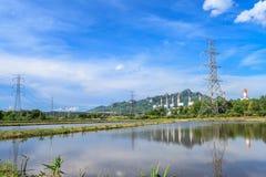 Elektrische centrale en milieu Stock Afbeelding