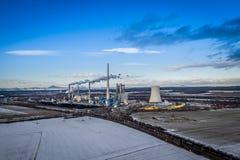 Elektrische centrale in Melnik in Tsjechische Republiek royalty-vrije stock afbeelding