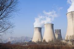 Elektrische centrale in noordelijk China royalty-vrije stock foto's