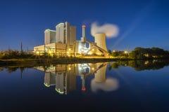 Elektrische centrale Stoecken door Hanover in Duitsland Royalty-vrije Stock Foto's