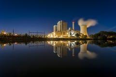Elektrische centrale Stoecken door Hanover in Duitsland Royalty-vrije Stock Afbeeldingen