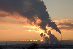 Elektrische centrale in Tsjechische Republiek Royalty-vrije Stock Foto's