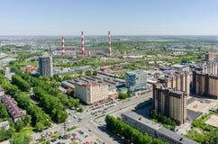 Elektrische centrale in Tyumen Rusland Stock Afbeeldingen