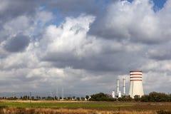 Elektrische centrale voor elektriciteit Stock Afbeeldingen
