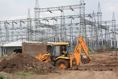 Elektrische centralebouw Stock Fotografie