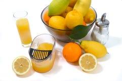 Elektrische citrusvrucht juicer in studio op witte backgrou royalty-vrije stock afbeelding
