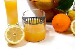 Elektrische citrusvrucht juicer in studio op witte backgrou royalty-vrije stock afbeeldingen