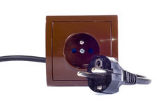 Elektrische contactdoos Royalty-vrije Stock Foto's