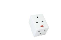 Elektrische contactdoos met drie richtingen stock foto's