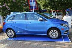 Elektrische de aandrijvingsauto van Mercedes-Benz op Nationaal Tenniscentrum tijdens US Open 2014 Royalty-vrije Stock Afbeeldingen