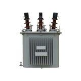 Elektrische die transformator op witte achtergrond wordt geïsoleerd royalty-vrije stock foto