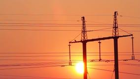 Elektrische draden stock video