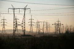 Elektrische draden stock foto