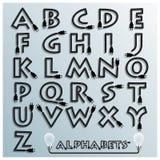 Elektrische Draht-und Stecker-Alphabet-Guss-Art Stockbild
