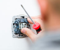 Elektrische Einfaßung Stockfoto