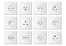 Elektrische Einfaßungen weltweit stock abbildung