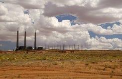 Elektrische Elektrische centrale stock afbeeldingen
