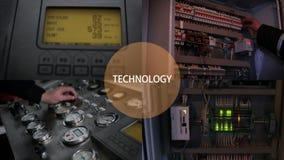 Elektrische Energie-Verteilung Stromkabel angeschlossen an einen Stromkreis stock video