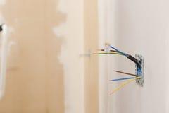 Elektrische Erneuerungsarbeit stockfotos