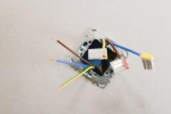 Elektrische Erneuerungsarbeit lizenzfreie stockfotos