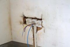 Elektrische Erneuerungsarbeit lizenzfreie stockfotografie