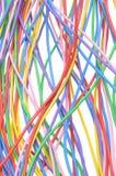 Elektrische farbige Drähte Stockfotos