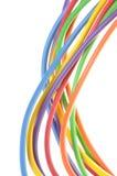 Elektrische farbige Drähte Lizenzfreie Stockbilder
