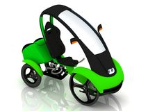 Elektrische velomobile fiets Royalty-vrije Stock Foto