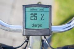 Elektrische fietsvertoning in de zon Stock Afbeelding