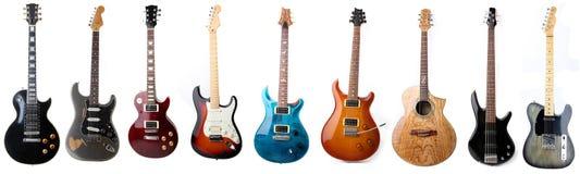 Elektrische geïsoleerdel gitaren Royalty-vrije Stock Fotografie