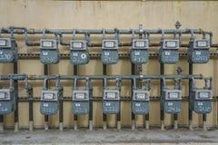 Elektrische Gebrauchskästen für Appartementkomplex, Ventura, Elektrisch, Wand lizenzfreies stockfoto