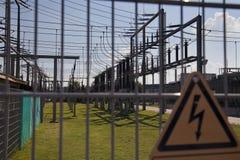 Elektrische Gefahr Stockbild