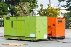 Elektrische generator stock foto's