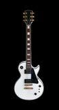 Elektrische gitaar de klassieke vorm Les Paul op witte achtergrond Stock Afbeeldingen